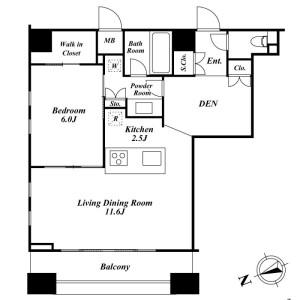 1SLDK Mansion in Togoshi - Shinagawa-ku Floorplan