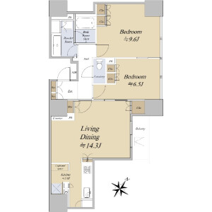 2LDK {building type} in Jingumae - Shibuya-ku Floorplan