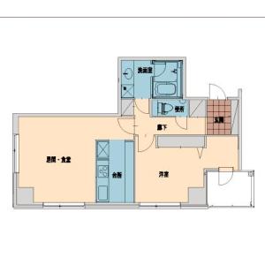 1LDK Apartment in Sarugakucho - Shibuya-ku Floorplan