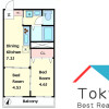 2DK Apartment to Rent in Shinjuku-ku Floorplan