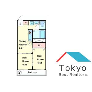 2DK Mansion in Minamimotomachi - Shinjuku-ku Floorplan