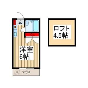 1R Apartment in Tsurugamai - Fujimino-shi Floorplan