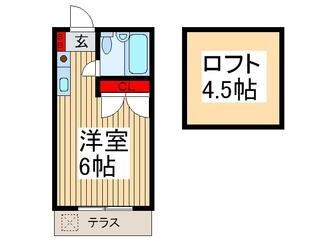 1R Apartment to Rent in Fujimino-shi Floorplan