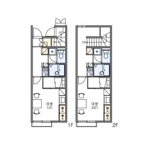 1K Apartment in Kusucho kitagomizuka - Yokkaichi-shi Floorplan