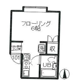 1R Apartment in Kugayama - Suginami-ku Floorplan