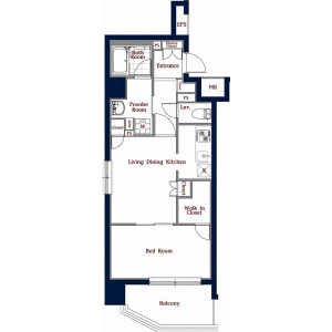 1LDK Mansion in Higashiueno - Taito-ku Floorplan