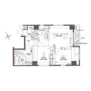 2LDK {building type} in Minato - Chuo-ku Floorplan