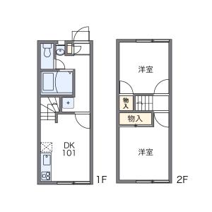 2DK Apartment in Onji minamimachi - Yao-shi Floorplan