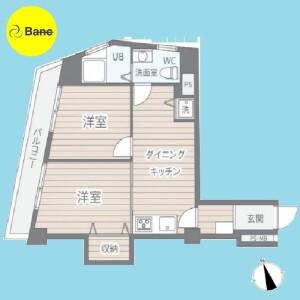 大田区蒲田-2DK{building type} 楼层布局