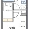 在福岡市西区内租赁1K 公寓大厦 的 楼层布局