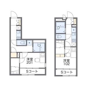 1K Apartment in Shimorenjaku - Mitaka-shi Floorplan