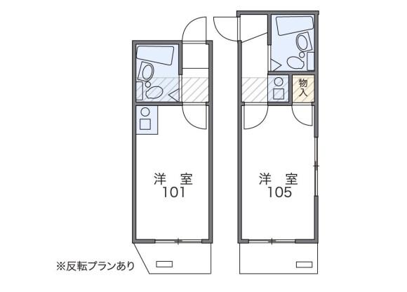 1K Apartment to Rent in Asaka-shi Floorplan