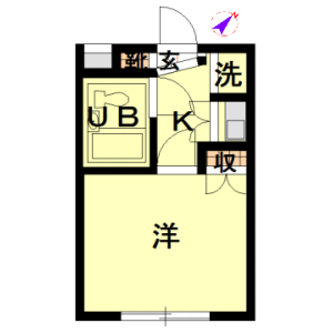 1K Apartment in Noge - Setagaya-ku Floorplan