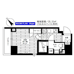 1K Mansion in Kuramae - Taito-ku Floorplan