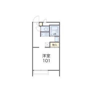 1K Apartment in Taishogun - Otsu-shi Floorplan