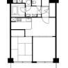 2DK Apartment to Rent in Meguro-ku Floorplan