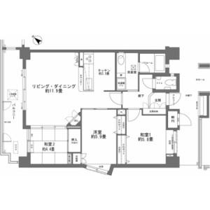 3LDK {building type} in Oroku - Naha-shi Floorplan