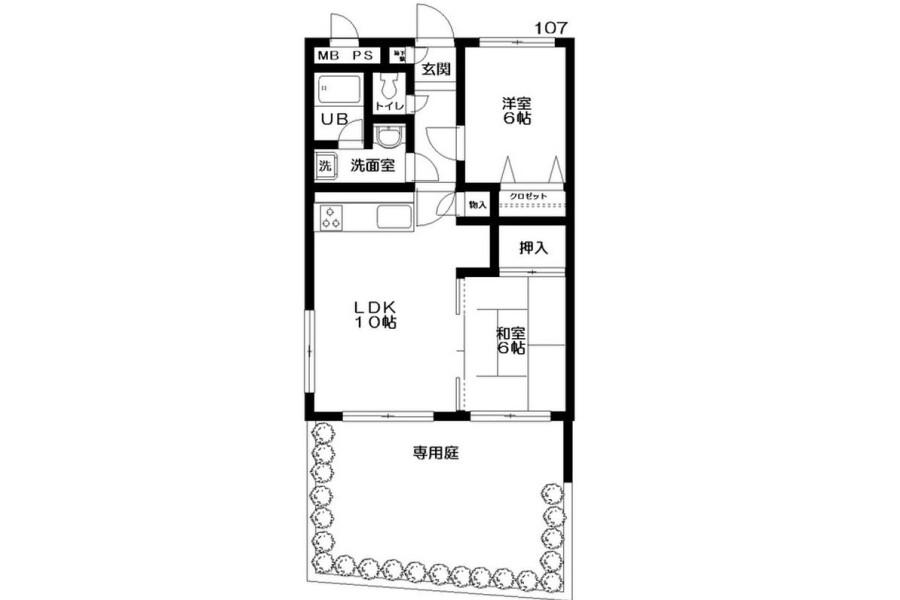 2LDK Apartment to Rent in Kita-ku Exterior