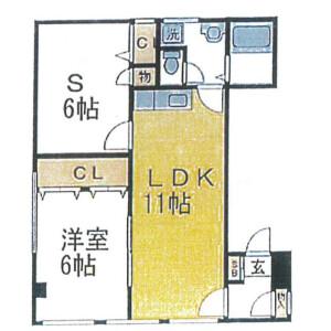 江東區永代-1SLDK公寓大廈 房間格局