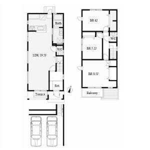 3LDK House in Yashiroguchi - Nagoya-shi Meito-ku Floorplan