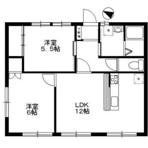 2LDK Apartment in Kaminoge - Setagaya-ku Floorplan