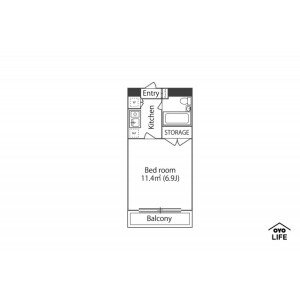 藤澤市本町-1K公寓大廈 房間格局