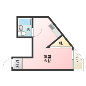 1R Apartment in Kitatanabe - Osaka-shi Higashisumiyoshi-ku Floorplan