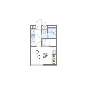 1K Apartment in Funabashi - Setagaya-ku Floorplan
