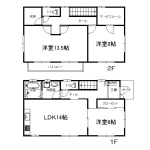 3SLDK House in Higashiuraga - Yokosuka-shi Floorplan
