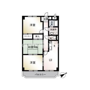 横浜市戸塚区前田町-3LDK公寓大厦 楼层布局