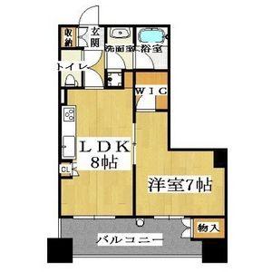 大阪市中央區島之内-1LDK公寓大廈 房間格局