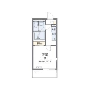 1K Mansion in Akasaka - Fukuoka-shi Chuo-ku Floorplan