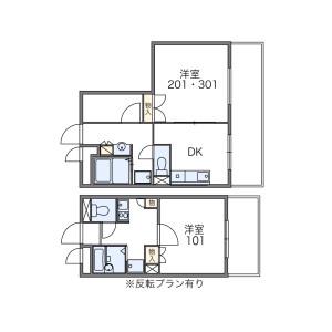 1K 아파트 in Waseda tsurumakicho - Shinjuku-ku Floorplan