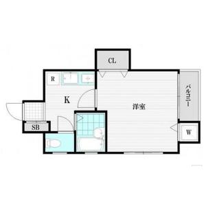 中野區中央-1K公寓大廈 房間格局