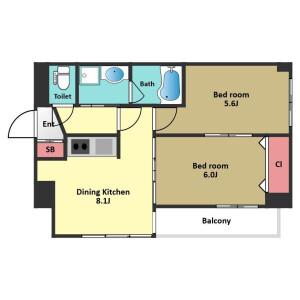 2DK Mansion in Uehara - Shibuya-ku Floorplan