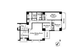 3LDK Apartment in Hiroo - Shibuya-ku