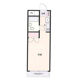 1R Mansion in Toshincho - Itabashi-ku Floorplan