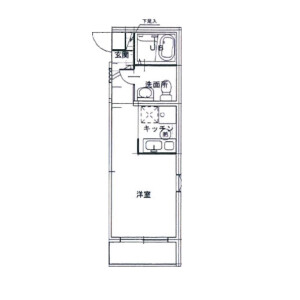 1R Apartment in Higashiyaguchi - Ota-ku Floorplan