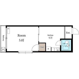 1R Mansion in Higashinippori - Arakawa-ku Floorplan