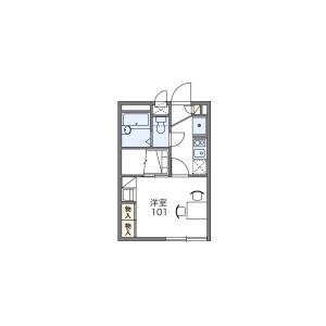 船橋市飯山満町-1K公寓 房間格局