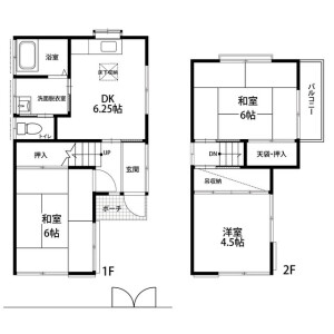 3DK House in Kamisoyagi - Yamato-shi Floorplan
