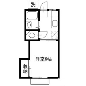 1K Apartment in Dotecho - Saitama-shi Omiya-ku Floorplan