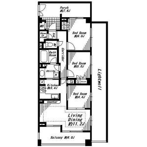 3LDK Apartment in Ikebukuro - Yokohama-shi Naka-ku Floorplan