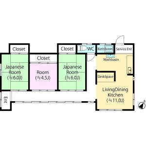 3LDK {building type} in Miyashiro - Minamisaitama-gun Miyashiro-machi Floorplan