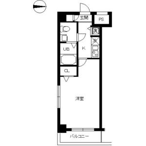 墨田區横川-1K公寓大廈 房間格局