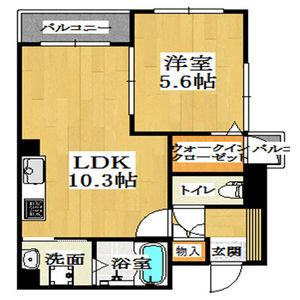 大阪市西区 西本町 1LDK マンション 間取り