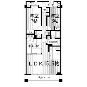 3LDK Mansion in Naritahigashi - Suginami-ku Floorplan