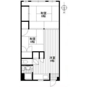2K Mansion in Higashiazabu - Minato-ku Floorplan