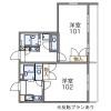 1K Apartment to Rent in Yokohama-shi Izumi-ku Floorplan