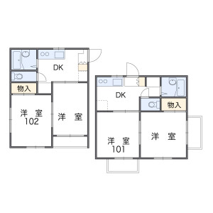 2DK Apartment in Nigawa yurinocho - Nishinomiya-shi Floorplan